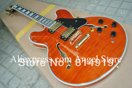 Wholesale Hollow Body Electric Guitars Red - Wholesale- Classic Orange 335 Hollow Body Electric Guitar Musical Instruments