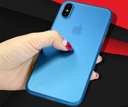 Wholesale Thinnest Iphone Shell - For iphone x Phone Cases Grinding and scraping 0.3mm thin and transparent 13 color whole package mobile phone protection shell