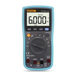 Wholesale Large Screen Multimeter - Zotek vc17b+automatic range digital multimeter for large screen LCD display, true RMS, frequency, duty cycle, 6000 word display