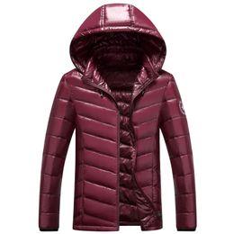 2020 casacos finos do lazer dos homens s Atacado- homens de moda de lazer Fino jaqueta dos homens marca para baixo jaqueta jaqueta gola do pato branco dos homens para baixo casacos finos do lazer dos homens s barato