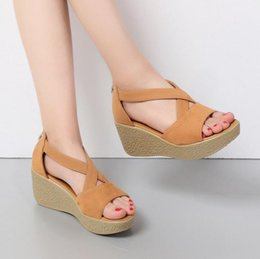 Wholesale Tied Table - Sexy Women new robe waterproof table leather exposed toe sandals