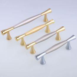 cassetto da 64 mm Sconti moda mobili decorazione maniglia argento oro nichel cassetto tv armadio da cucina armadio armadietto tira 64mm 96mm