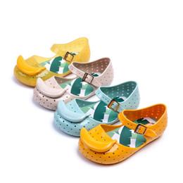 Wholesale Cute Banana Cartoon - Mini Sed Girls Shoes Summer Cartoon Banana Girls Sandals Cute Sandals For Children Shoes For Girl shoes Kids Sandals SED