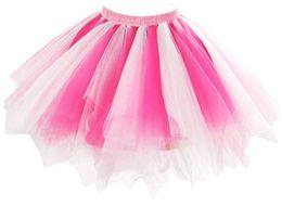 Wholesale Belly Dances Plus Size - Skirt For Women Tutu Tulle Pleat ballroom dance belly Short Midi Skirts Plus size adult girl Woman Fashion High waist ruffle Petticoat