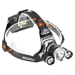 Wholesale Cree Headlamps For Sale - hot sale 6000Lm CREE XML T6+2R5 LED Headlight Headlamp Head Lamp Light 4-mode torch +EU US charger for fishing Lights