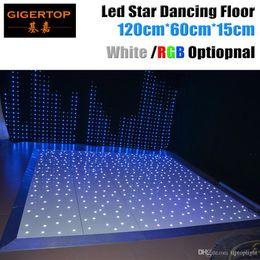 paneles de suelo led Rebajas Diseño en Gran Bretaña 120cm x 60cm Led Dance Floor Panel CE Rohs Dancing Floor Stage Light White Star Shinning Control remoto inalámbrico