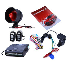 Wholesale One Way Auto Alarm - High Quality 12V Car Alarm System One Way Vehicle Burglar Alarm Security Protection System with 2 Remote Control Auto Burglar Keyless Entry
