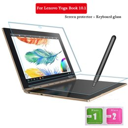 Wholesale Glass Tablet Lenovo - Wholesale-For Lenovo Yoga Book 10.1 Inch Tempered Glass + Keyboard Glass Screen Protect Tablet PC Film 2.5D Edge 9H Transparent Ultra-thin