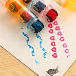 kid stamps NZ - Cartoon 3pcs combination pens shape Stamps sets, cycle roller Stamp Kids DIY Handmade Scrapbook Photo Album students Stamps Arts