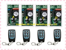 Wholesale Remote Receiver Prices - Wholesale- Best Price AC 220 V 1CH Wireless Remote Control Switch System 4pcs Receiver & 4pcs Transmitter 315mhz 433.92mhz+Smart home