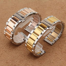Wholesale Solid Metal Bracelets - Colorful watchband Stainless steel bracelet solid metal watchband Butterfly clasp18mm 20 21 22mm watch strap wristwatches band men women new