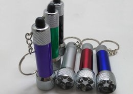 Wholesale Keychain Flashlight Led Bright - Five Led mini super bright Led Flashlight Aluminum Alloy small Flashlight Keychain Best Potable for outdoor travel cave adventure