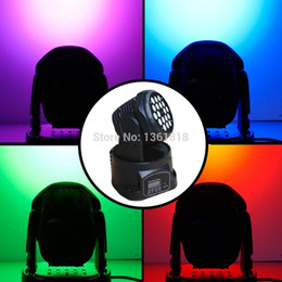 Wholesale Moving Head Lights China - (2 pieces lot) china moving heads led moving wash spot lighting 18*3w led rgb dj lighing