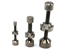 Wholesale Nuts Size - 2016 NEW Updated TITANIUM NAIL with Adjustable SIZE Wing Nut Adjustable Dual Finned Gr2 Ti Nail Works with 10&14&18mm Connection Best Price