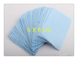 Wholesale Dust Eyeglass - Cleaning Cloth 6*8cm gsm Zigzag Microfiber Cleaning Cloth for Glasses LCD LED Tablet Phones Laptop Eyeglasses Wipes Dust Washing Cloth