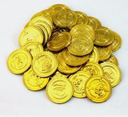 moedas de ouro de brinquedo Desconto Plástico de ouro moedas de Pirata de aniversário de natal favor do tesouro moeda goody festa loot bag pinata enchimento brinquedo favortheme decoração presente
