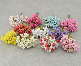 Wholesale Lovely Bride - Wholesale-10pcs Free shipping Artificial flowers Foam flower bud DIY wreath material Bride wrist lovely flower Wedding flower decoration