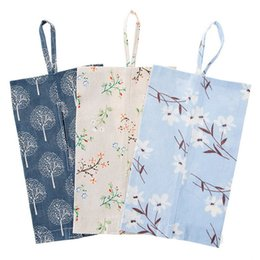 Wholesale Pump Pouches - new Creative cotton tissue pumping paper towel folded pouch car Foldable Organizers Home Decor Tissue Storage Hanging Wall bag