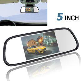 2019 câmera de carro camry 480 x 272 5 polegadas TFT LCD a cores Wide View Angle Car Rear View Monitor Espelho CMO_395