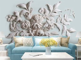Wholesale Paint Photo Backdrop - 3D photo wallpaper stereoscopic relief European backdrop entrance porch bird leaf 3D large wall mural wallpaper Modern painting