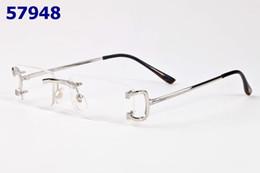 Wholesale Reading Glasses Gold Frame - Fashion Men Clear Rimless Glasses Frame Gold Silver Eyeglasses Frame Women Oculos De Grau Prescription Reading Glasses Oculos