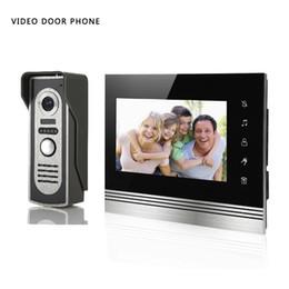 Wholesale Video Doorphone Intercom System - XSL-V70k-M2 Video DoorPhone Intercom System 7 Inch Clear LCD Monitor Wired Video Intercom Doorbell Kits Night Vision Camer