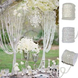 Wholesale Crystal Window Beads - Wholesale-AB 10mm *30 Meters Glass Crystal Beads Curtain Living Room Passage Window Door Crystal Curtain Wedding Party Backdrop