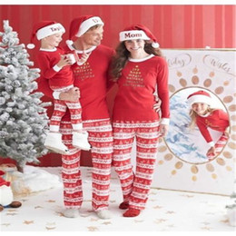 Wholesale Family Christmas Outfits - Family Matching Pjs Outfits Christmas Pajamas Autumn 2017 New Xmas Mother Daughter Father Son Toddler Pajamas Family Clothes Set