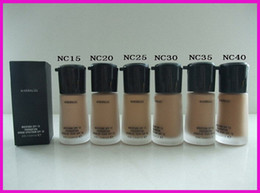 Wholesale mineralize foundation spf15 - New Makeup Mineralize Moisture Foundation Liquid Spf15 30ML 6 colors DHL free shipping