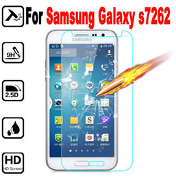 2019 tela samsung s7262 Prémio de vidro temperado protetor de tela para samsung galaxy s7260 s7262 7260 7262 gt-s7262 temperado película protetora com pacote de varejo tela samsung s7262 barato