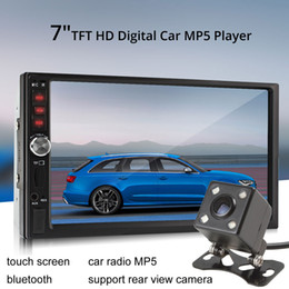 Wholesale Car Stereo Monitors - 7012B 7 Inch Bluetooth TFT Screen Car Audio Stereo MP5 Player 12V Auto 2-Din Support AUX FM USB SD MMC CMO_20Y