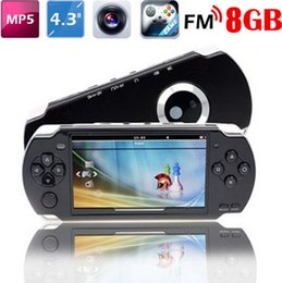 "Wholesale Pmp Mp5 - Portable 4.3"" 8GB MP5 Game Player 1.3MP Camera PMP MP3 MP4 Multimedia Video Console Recorder free 2000 Games FM TV out"