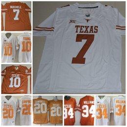 football jerseys 34 Australia - Mans Texas Longhorns College Football  Jerseys NCAA  7 Shane Buechele b1bab10cf