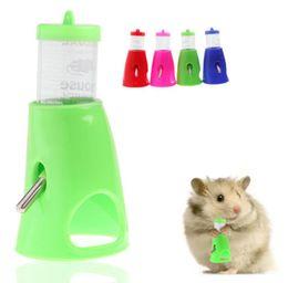 Wholesale Dispenser Bottle Holder - 2 in 1 Hamster Water Bottle Holder 80ML Dispenser With Base Hut Small Pet Nest