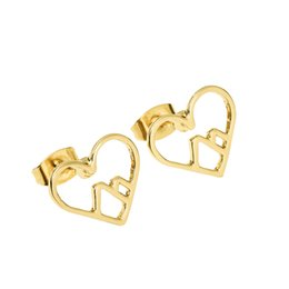 Wholesale Earring Studs For Sale - Hot sale in jewelry New Fashion Mountain earring studs Pretty Heart mountain Earring studs for Outdoor lovers