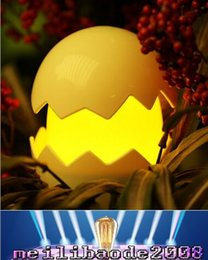 Wholesale Touch Lamps For Kids - NEW USB AAA Battery Powered Led Yolk Night Light Cute Egg Lamp Baby Night Light Toys Christmas Gift Touch Switch Lamp for Kids MYY