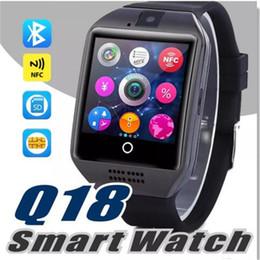 telefono rosa android guardare Sconti Q18 Smart Watch Android Smartphones Q18 Supporto TF SIM Card Slot Connessione Bluetooth NFC Con pacchetto di vendita al dettaglio