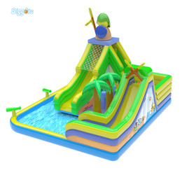 Wholesale Pool Inflatable Slides - Commercial Grade Factory Price PVC Tarpaulin Inflatable Water Park Pool Slide Backyard Inflatable Water Slide For Sale