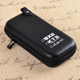 Wholesale Ecab Electronic Cigarette - Wholesale-Electronic Cigarette Case X6 KTS Zipper Case E Cigarette leather case bag for X6 kts eCab v2 electronic cigarette starter kit