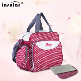 Wholesale Nappies Patterned - Wholesale- Large Diaper Bag Tote Nappy Bags Fashion Baby Bags Mummy Maternity Handbag Baby Diaper Organizer Nappy Bag Pattern 10034