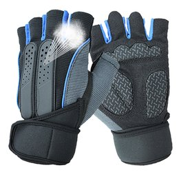 Wholesale Glove For Fitness - High Quality Fitness Weightlifting Gloves Hand Pads Non-slip With Wrist Exercise Training Gym Gloves For Men And Women Dumbbells