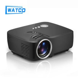 Wholesale Hdmi Audio Output - Wholesale-New GP70 Portable 1200 Lumens Full HD High Power LED Projector For School Video Home Cinema Support Stereo Audio Output