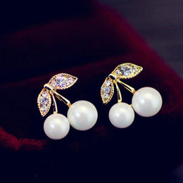 Wholesale Gold Plated Jewellery For Sale - Hot Sale Fashion Crystal Women Stud Earrings for Party Elegant Jewelry boucle d'oreille brincos pendientes mujer bijoux Luxury jewellery