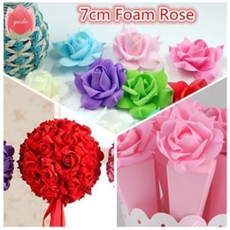 Wholesale Cheap Clothes Decorations - Cheap 10pcs PE Foam Pentagon Rose Artificial Flowers For Wedding Home Decoration Mariage Rosa Flores Clothing Hats Accessories