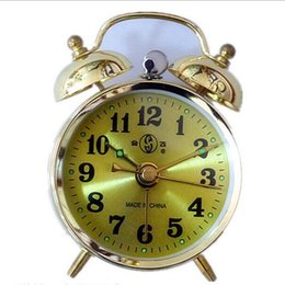 Wholesale Wholesale Antique Clocks - Wholesale-Manually-Wound Mechanical Alarm Clocks Energetically Lazy Retro Metal Mechanical Clockwork Small Alarm Clock