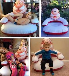Wholesale Christmas Inflatable Santa Claus - Inflatable Sofa Hangout Camping Sofa Christmas Decoration inflatable santa claus sofa christmas gift 90*80*90CM D755 2pcs
