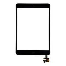 Wholesale Glass Panel Connector - 30PCS (Tested) Black White For iPad Mini 2 iPad mini 1 Touch Screen Digitizer Panel Outer Glass With ic Connector Home Button DHL Free