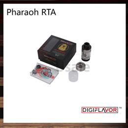Wholesale Derlin Drip Tips - Digiflavor Pharaoh RTA 4.6ml BAF Top Angled Airflow System Interchangeable Decks Derlin Drip Tip Atomizer by Rip Trippers 100% Original
