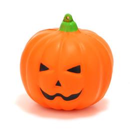 Улыбающееся яблоко онлайн-7 см медленно растет PU Улыбающееся лицо Хэллоуин тыква Squishy Шарм ремешок для мобильного телефона Подарок Украшение дома