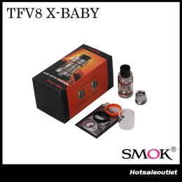 Wholesale Beast X - Authentic Smok TFV8 X-BABY Beast Tank Large 4.0ml Liquid Capacity & Adjustable Top Airflow System Innovative Massive Clouds Atomizer
